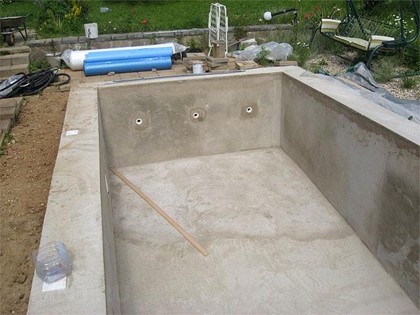 Бетонный бассейн своими руками