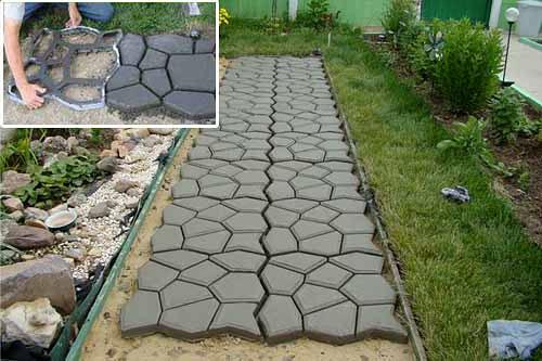 Как построить дорожки из бетона