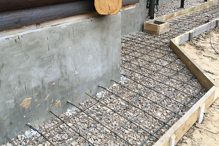 Построить отмостку из бетона