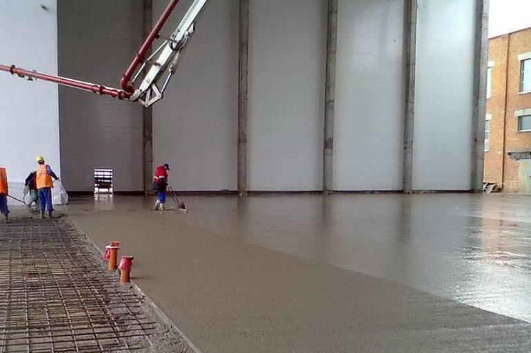 Пыление бетона