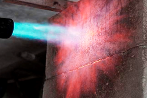 Устойчивость жаростойкого бетона воздействию открытого пламени